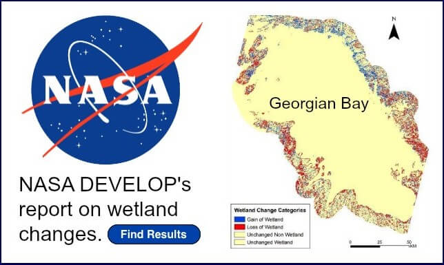 NASA's front page to wetlands