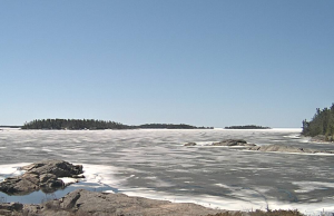 Spring thaw of Georgian Bay