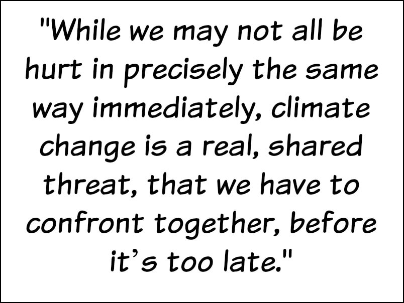 COMING TOGETHER FOR CLIMATE CHANGE QUOTE