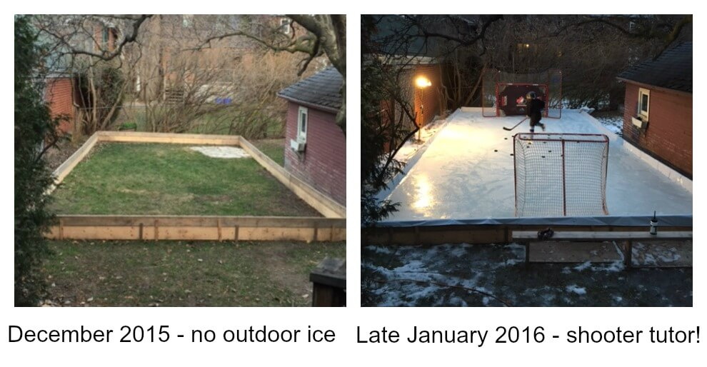 a Picture of outdoor hockey rinks