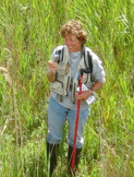 Dr. Janice Gilberet in the wetlands