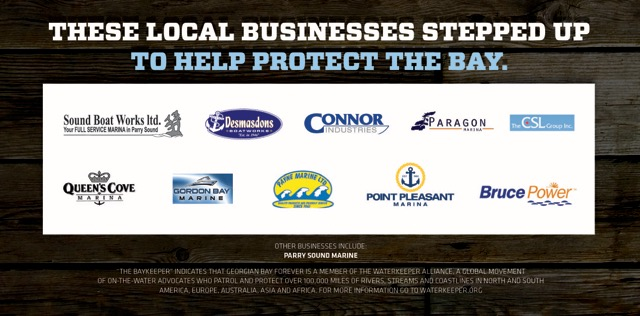 Local Businesses supporting Georgian Bay Forever