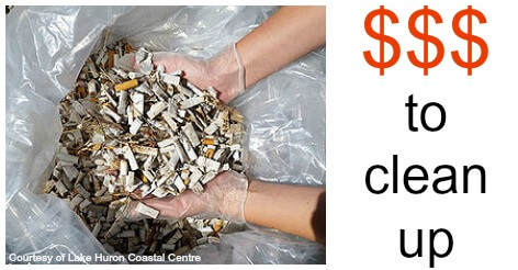 Cigarette Butt Costly to clean up