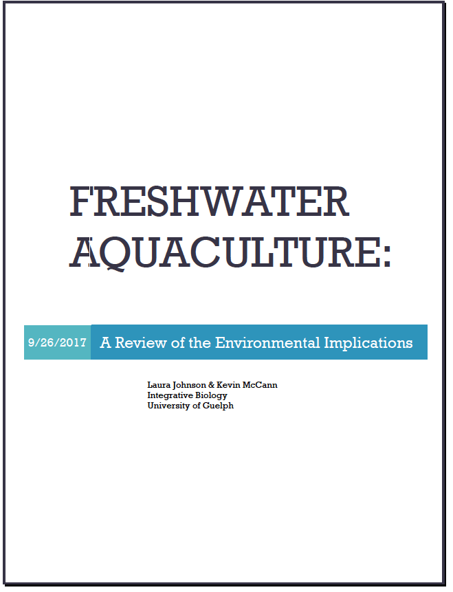 AQUACULTURE REPORT