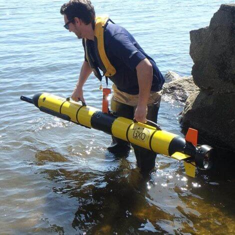 Picture of the Automated Underwater Vehicle or AUV