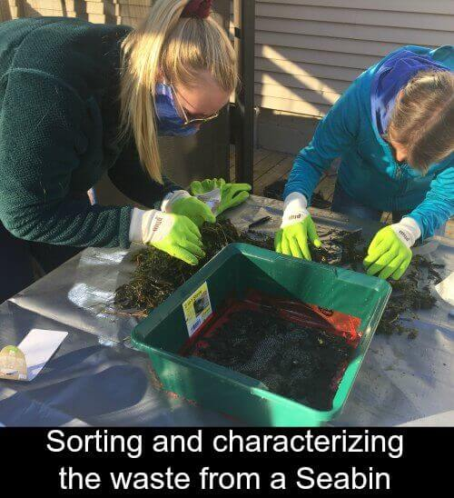 Characterizing waste form a Seabin