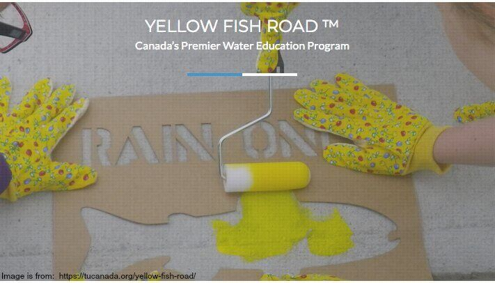 Image from the Yellow Fish Road Campaignn