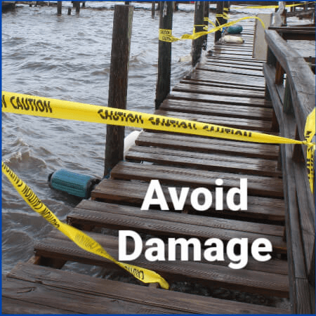 Stuctural damage water levels